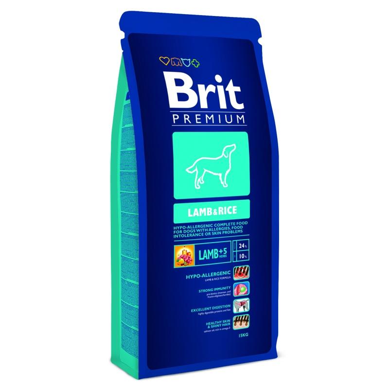 Корм сухой Brit Premium для собак всех пород, гипоаллергенный, с ягненком и рисом, 8 кг132388Сухой корм Brit Premium - полнорационный гипоаллергенный корм для собак с чувствительным пищеварением, склонных к пищевой аллергии и проблемам с кожей, находящихся в периоде выздоровления. Brit Premium не содержит сою, говядину, свинину, пшеницу и мясо цыпленка. Это специальная формула, которая не перегружает организм и является профилактикой аллергии. - Здоровый метаболизм. Содержит только гипоаллергенное сырье: мясо ягненка с рисом, которое поддерживает здоровый метаболизм. - Гипоаллергенное питание. Корм содержит высококачественный протеин мяса ягненка для гипоаллергенного питания и здорового пищеварения. - Органы чувств и здоровая шерсть. Лосось уравновешивает содержание ненасыщенных жирных омега-3 и омега-6 аминокислот и благотворно влияет на органы чувств и состояние шерсти. - Поддержка иммунитета. Витамин Е (альфа-токоферол) и питательные антиоксиданты поддерживают иммунитет. Состав: мука из мяса ягненка (31%), рис, куриный...