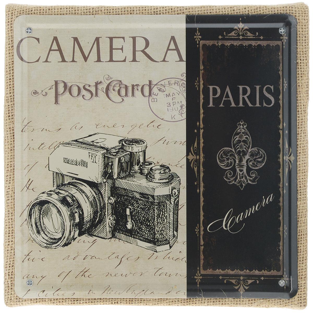 Постер в рамке Феникс-презент Фотоаппарат, 20 х 20 см зеркальный фотоаппарат