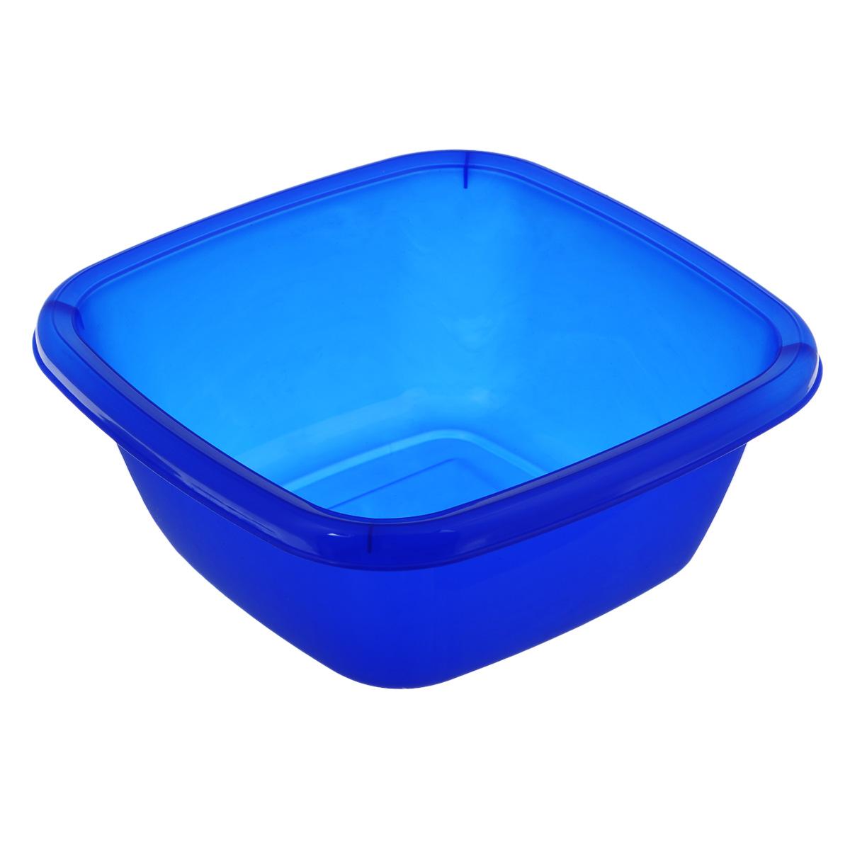 Таз Dunya Plastik, цвет: синий, 4 л. 1011610116Квадратный таз Dunya Plastik выполнен из прочного пластика. Он предназначен для хранения разных вещей и бытовых мелочей. По бокам имеются специальные углубления, которые обеспечивают удобный захват. Такой таз пригодится в любом хозяйстве.