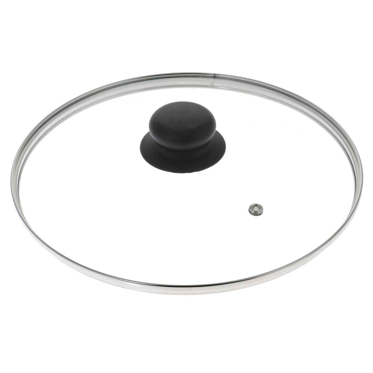 Крышка стеклянная LaraCook. Диаметр 24 смDS240Крышка LaraCook изготовлена из термостойкого стекла. Обод, выполненный из высококачественной нержавеющей стали, защищает крышку от повреждений, а ручка, выполненная из термостойкого пластика, защищает ваши руки от высоких температур. Крышка удобна в использовании, позволяет контролировать процесс приготовления пищи. Имеется отверстие для выпуска пара.