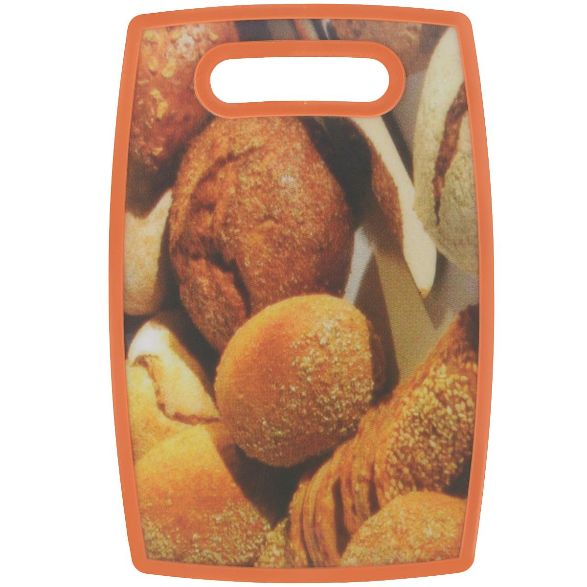 Доска разделочная LaraCook Хлеб, 16 см х 25 смLC-1113Доска разделочная LaraCook Хлеб, изготовленная из устойчивого к истиранию пластика, займет достойное место среди аксессуаров на вашей кухне. С одной стороны доска имеет однотонное пластиковое покрытие, а с другой декорирована изображением хлеба. Доска имеет высокий коэффициент жесткости и прекрасно подойдет для нарезки любых продуктов. Устойчива к деформации и высоким температурам. Можно мыть в посудомоечной машине.