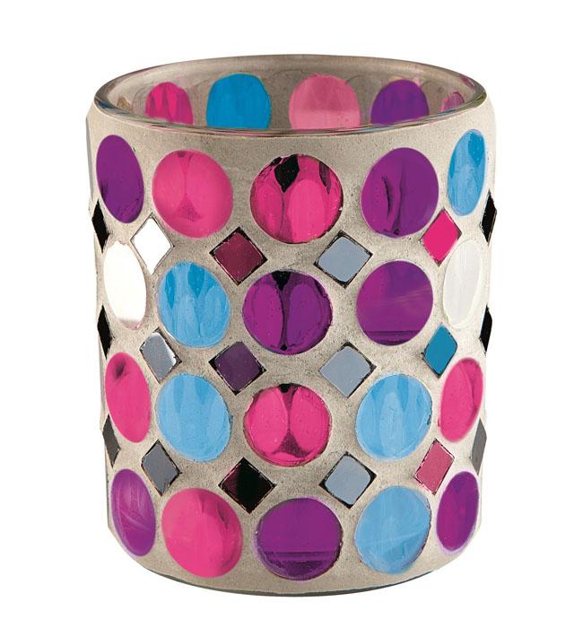 Подсвечник для чайной свечи Gardman Venice, 8,5 х 7,5 см19742Подсвечник для чайной свечи Gardman Venice изготовлен из стекла в виде стакана и украшен разноцветной мозаикой. Изделие предназначено для чайной свечи. Мерцание огня в таком стакане поможет создать в доме неповторимую атмосферу романтики и уюта.