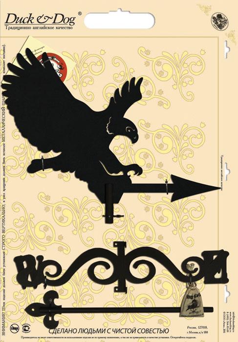 Флюгер Duck & Dog Орел, 49 х 97 смБФ.70003Флюгер Duck & Dog Орел изготовлен из сплавов прочных металлов и покрыт специальной порошковой краской, что гарантирует долговечность срока службы. Флюгер поворачивается под воздействием ветра, а также указывает его направление. Такой метеоприбор отличается заметным изяществом. Флюгера - это украшение дома, некий элемент декора. Также их помещают на любые загородные сооружения, бани, беседки и т.д. В комплекте крепежные элементы. Размер фигурной части: 52 см х 40 см.