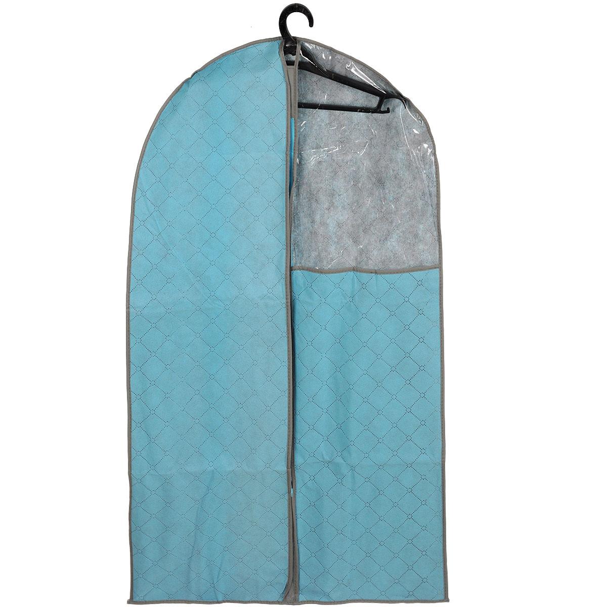 Чехол для одежды House & Holder, с прозрачной вставкой, цвет: голубой, 110 см х 60 смWF021-1Чехол для одежды House & Holder изготовлен из текстиля. Особое строение полотна создает естественную вентиляцию: материал дышит и позволяет воздуху свободно проникать внутрь чехла, не пропуская пыль. Благодаря форме чехла, одежда не мнется даже при длительном хранении. Застегивается на молнию. Специальная вставка из пластика позволяет увидеть, какие вещи находятся внутри. Чехол для одежды будет очень полезен при транспортировке вещей на близкие и дальние расстояния, при длительном хранении сезонной одежды, а также при ежедневном хранении вещей из деликатных тканей. Чехол для одежды House & Holder не только защитит ваши вещи от пыли и влаги, но и поможет доставить одежду на любое мероприятие в идеальном состоянии.