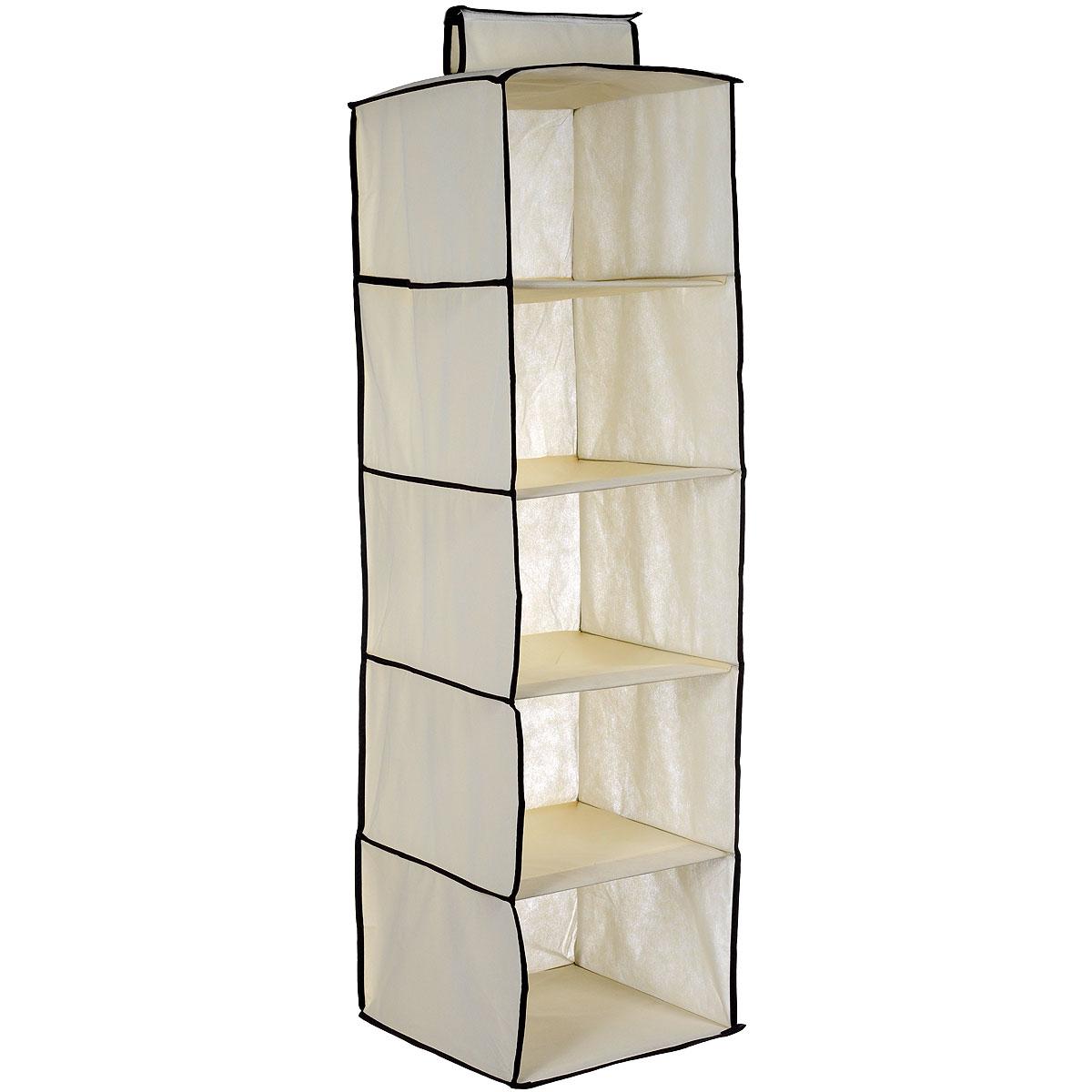 Кофр для хранения вещей House & Holder, подвесной, 5 отделений, 30 х 30 х 110 смML014Кофр для хранения вещей House & Holder поможет аккуратно хранить различные вещи, мелкие аксессуары и т.д. Изделие выполнено из флизелина и картона и имеет 5 отделений. Кофр оснащен ручкой для подвешивания. Кофры для хранения - идеальное решение для аккуратного хранения ваших вещей, обуви и аксессуаров.