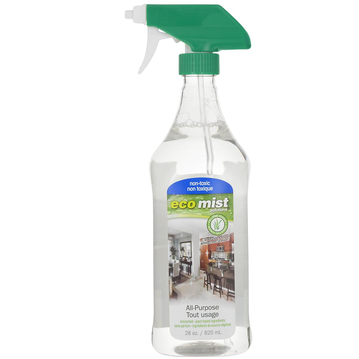 Средство универсальное для очистки любых поверхностей Eco Mist, 825 млEM825XXAPTR06EFLИдеальное, высоконконцентрированное универсальное средство Eco Mist для придания чистоты любым поверхностям в доме, в том числе детских игрушек, полов и предметов в детской комнате. Также подходит для мытья предметов при уходе за пациентами. Это чистящее средство можно разбавить для приготовления рабочего раствора в пропорции 1:7, то есть 100 мл средства на 700 мл воды. Идеальная чистота - гарантированное здоровье для вас, ваших детей, близких и домашних животных. Не токсично. Без запаха. Состав: дехлорированная вода, кукуруза, древесный сок, трава, экстракт картофеля, сахарный тростник.