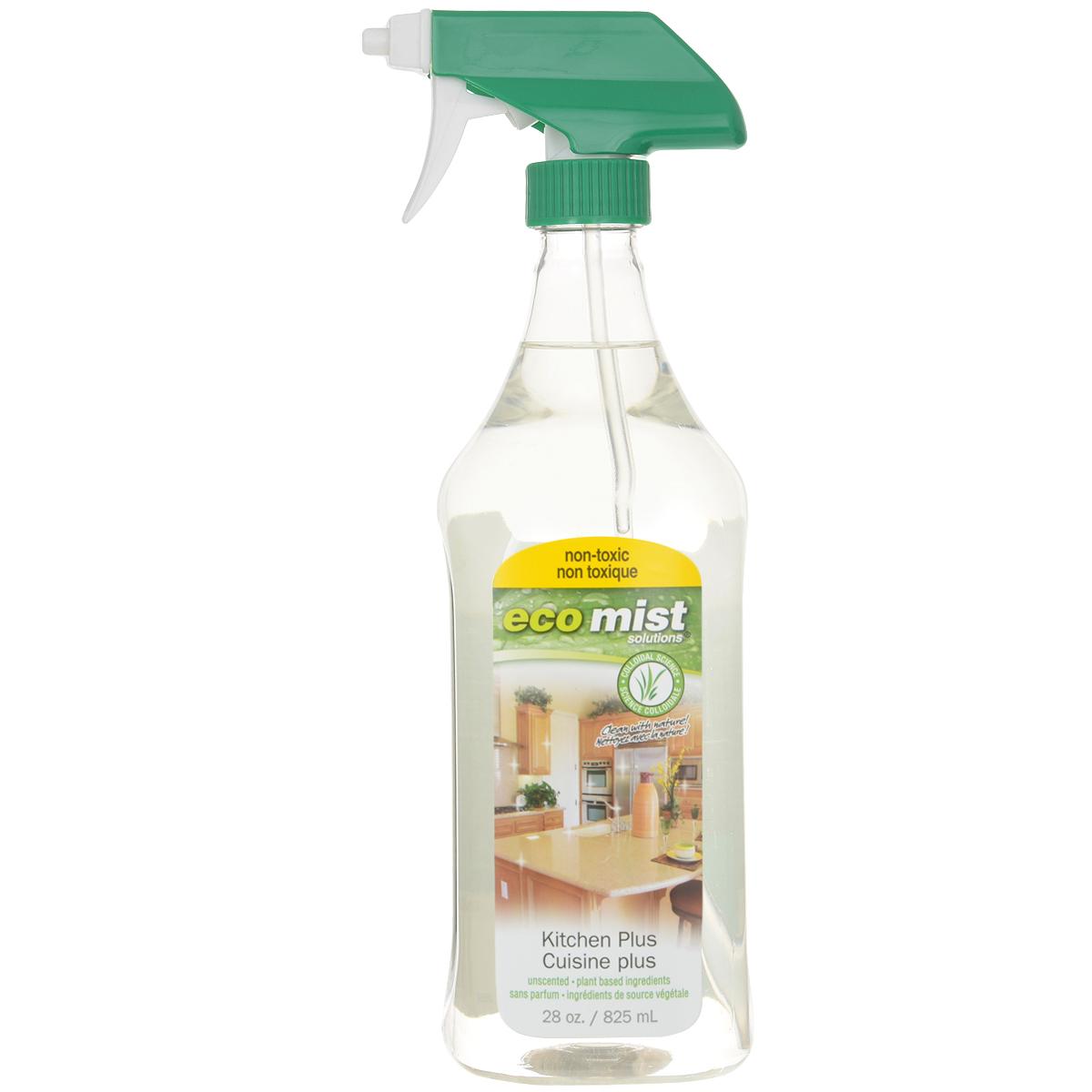 Средство для очистки кухонных поверхностей Eco Mist, 825 млEM825XXKXTR06EFLСредство специального назначения Eco Mist для ежедневной уборке на кухне. Используется для мгновенного придания свежести и чистоты плит, столешниц, раковин, смесителей, шкафов, приборов и стен. Поверхности остаются гладкими и чистыми. Нейтрализует неприятные запахи. Состав: дехлорированная вода, экстракт зерна, древесный сок, злаки, экстракт картофеля, сахарный тростник.