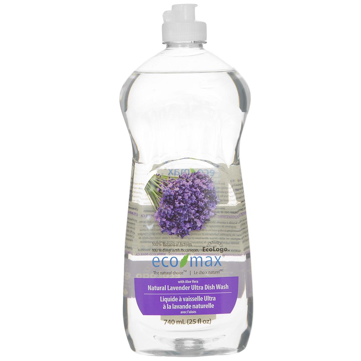 Средство для мытья посуды Eco Max Лаванда, 740 млEmax-C107Средство для мытья посуды Eco Max - натуральное средство на 100% растительной основе, полностью биоразлагаемое. В этом средстве используются активные чистящие вещества ингредиентов, полученных из биоразлагаемых и возобновляемых растительных источников. Содержит алоэ вера, обладающее увлажняющими и заживляющими свойствами. Натуральное лавандовое масло придает посуде свежий аромат. Состав: вода, ПАВ растительного происхождения, растительный экстракт алоэ вера, соль, пищевой сорбат калия в качестве консерванта, пищевая лимонная кислота (из плодов лимона), натуральное эфирное масло лаванды. Товар сертифицирован.