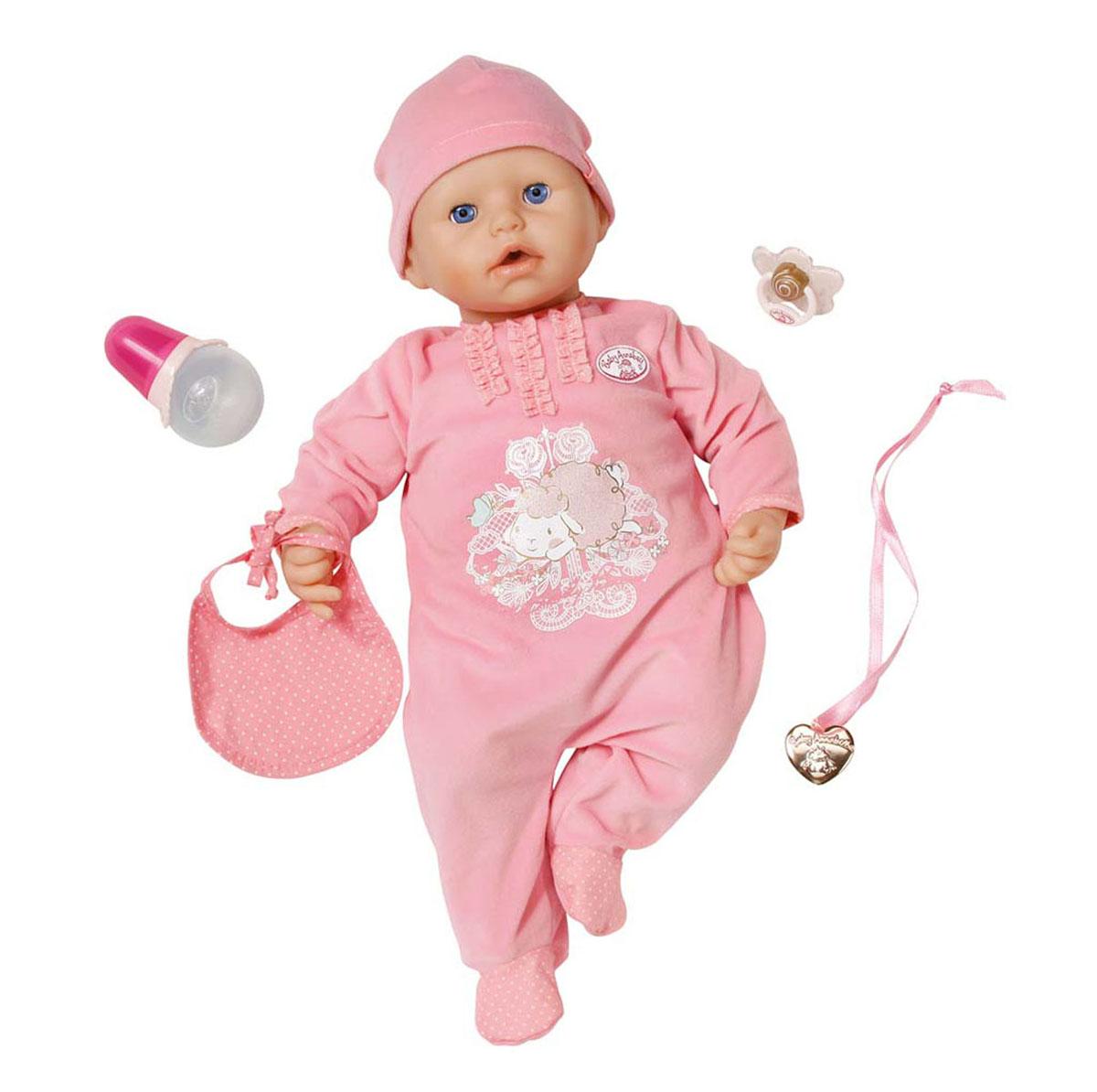 Baby Annabell Пупс с мимикой в розовом комбинезоне