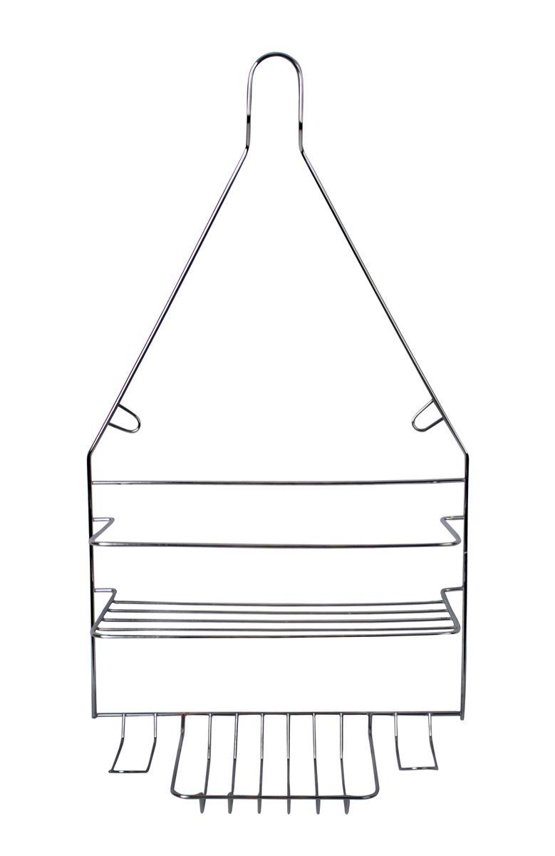 Полка навесная Fresh Code, 25,5 см х 9,9 см х 45,5 см58564Удобная компактная полка Fresh Code не требует специального монтажа, ее можно повесить на крючок или штангу в ванной. Универсальный дизайн подойдет для любого интерьера ванной комнаты. Выполнена из хромированной стали.