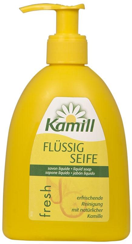 Kamill Мыло жидкое для рук Fresh, 300 мл26950643Освежающее жидкое мыло для рук с ароматом цитрусового молочка и экстрактом ромашки успокаивает кожу и поддерживает ее естественную регенерацию. Благодаря аромату лимонного молочка, оставляет ощущение свежести после использования. Концентрированная формула обеспечивает очень экономичный расход мыла. Жидкое мыло Kamill pH-нейтрально, проверено дерматологически. Товар сертифицирован.