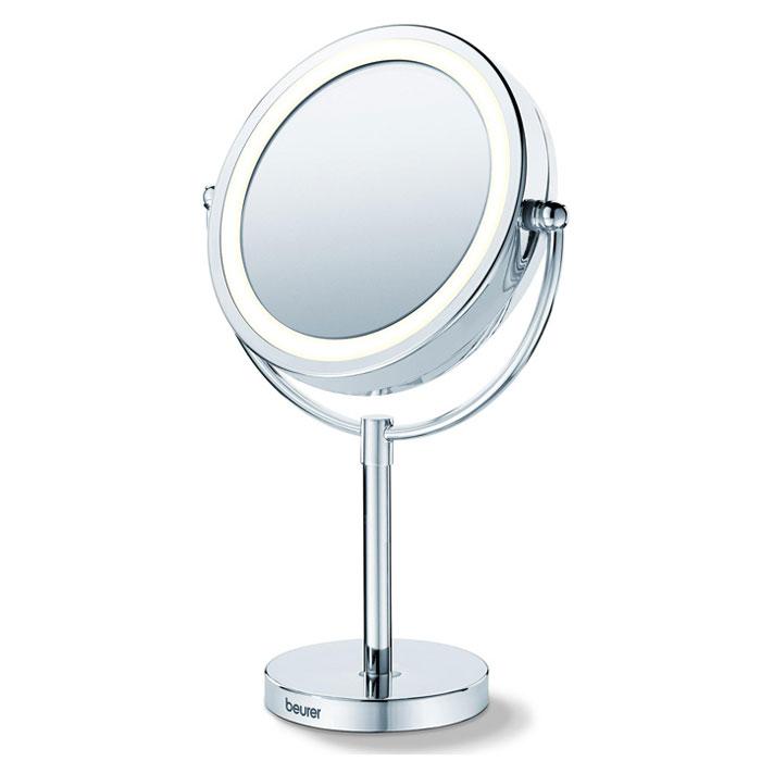 Настольное косметическое зеркало Beurer BS691092033Разработанное специально для проведения косметических процедур и накладывания макияжа зеркало Beurer BS 69 может стать вашим спутником в течение дня. Универсальная форма зеркала впишется в любой интерьер. Пятикратное увеличение и круговая подсветка создают оптимальные условия для создания идеального макияжа. С зеркалом Beurer BS 69 ваша красота не останется не замеченной! Легко поворачивается Высококачественное хромовое покрытие