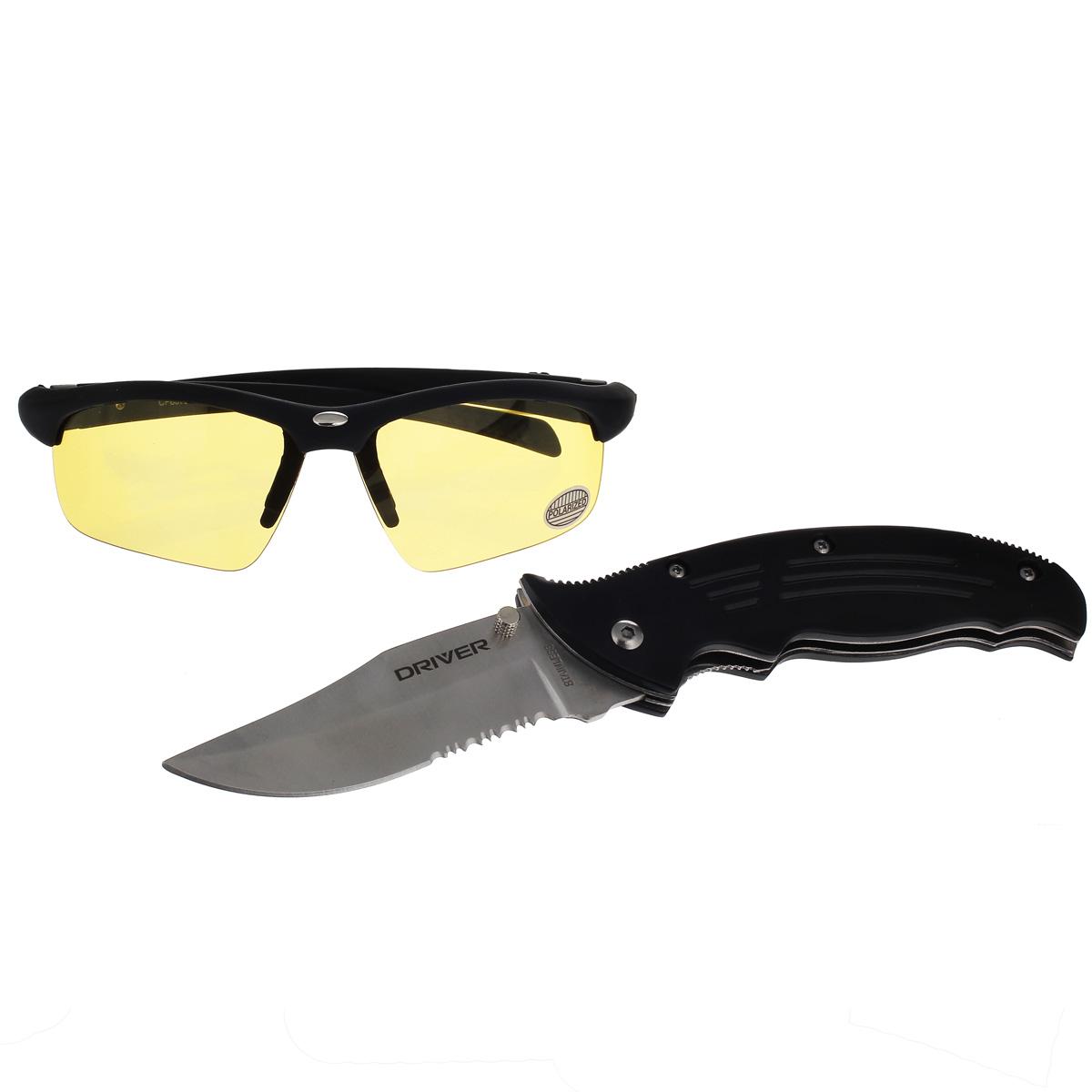 Набор Driver № 2 очки водителя + туристический нож водителя. CF80797 + DR115НАБОР CF80797 + DR115