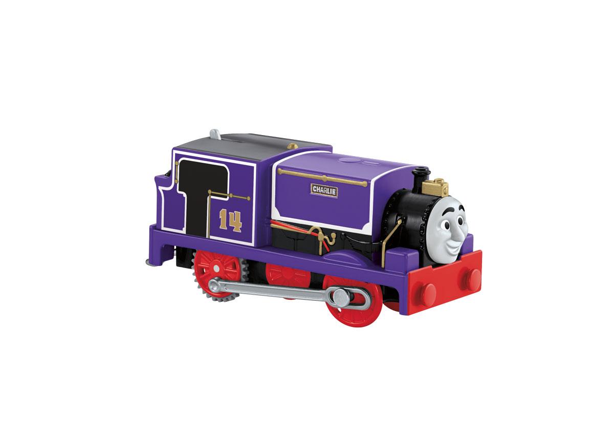 Thomas & Friends Паровозик ЧарлиCKW29_CKW30Паровозик Thomas & Friends Чарли привлечет внимание вашего малыша и не позволит ему скучать. Он выполнен из прочного пластика с элементами металла в виде героя популярного мультсериала Томас и его друзья. Чарли - маленький игривый фиолетовый танк-паровоз, прибывший с материка. Его номер 14, но несмотря на свой размер, он всегда готов к приключениям. Больше всего Чарли любит веселье. Порадуйте своего непоседу такой замечательной игрушкой! Необходимо купить 2 батарейки типа ААА (не входят в комплект).