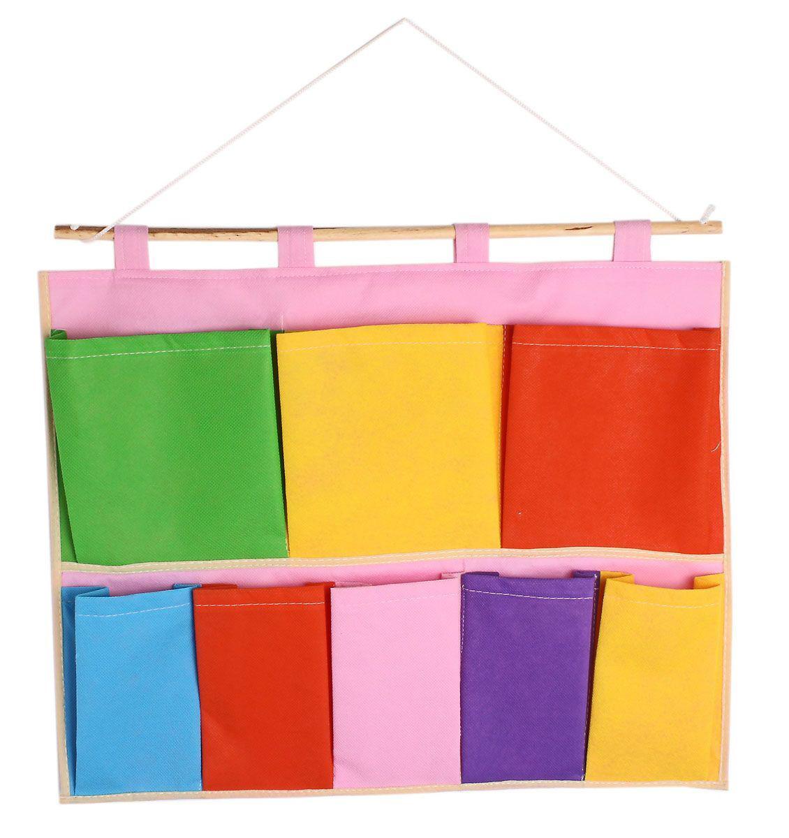 кармашки цветные квадратики 8 отделений 45*40см текстиль 455712