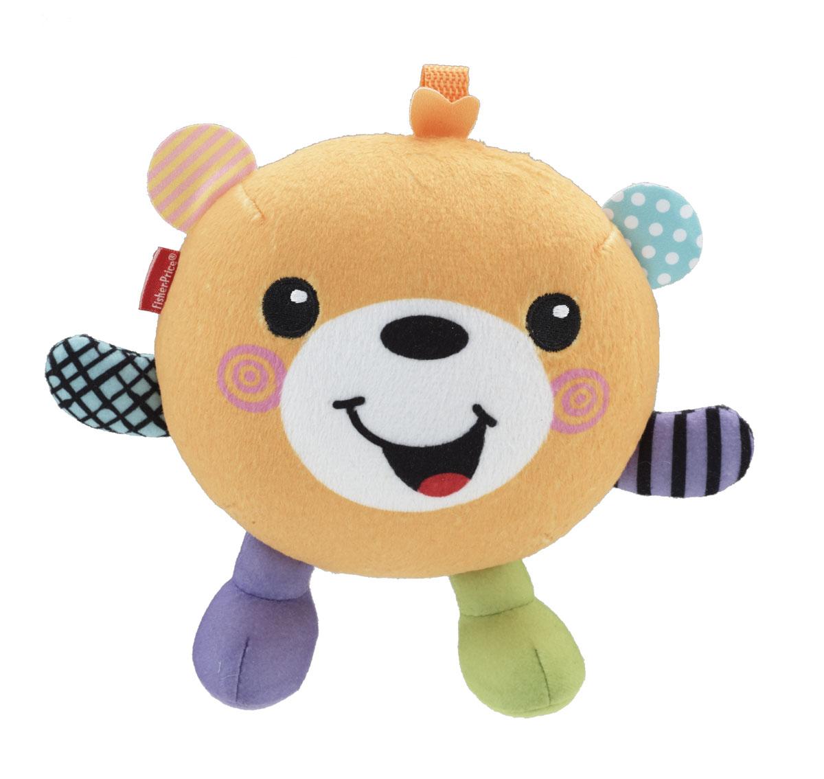 Fisher-Price Игрушка Веселые друзья: Мишка Тобби, со звуковыми эффектамиCGD04_CGD01Забавная развивающая игрушка Fisher-Price Веселые друзья: Мишка Тобби приведет в восторг вашего малыша. Она выполнена из мягкого, приятного на ощупь текстильного материала в виде забавного медвежонка. Потрясите игрушку или нажмите ей на животик - и она начнет задорно смеяться. Пусть ваш малыш обнимет своего нового мягкого плюшевого друга! Медвежонок ответит ему радостным хихиканьем и забавными звуками. Яркие цвета, веселые узоры и мягкая текстура помогут малышу улучшить навыки восприятия. Такая игрушка позволит малышу весело и с пользой провести время, и поможет ему развить тактильные ощущения, мелкую моторику, зрительно-цветовое и слуховое восприятие. Рекомендуется докупить 2 батарейки типа AАА (товар комплектуется демонстрационными).