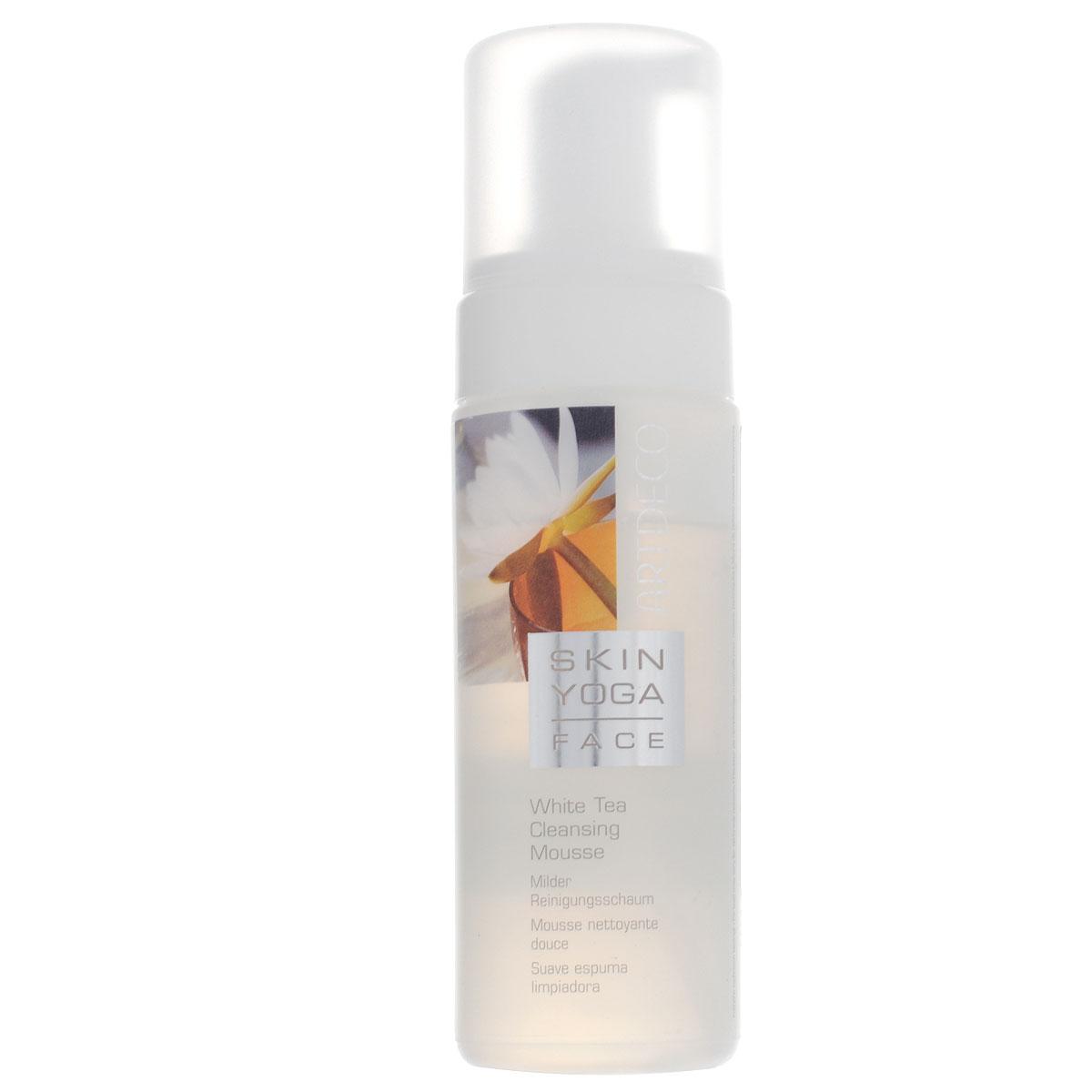 Artdeco Пенка для умывания Skin Yoga, с экстрактом белого чая, 150 мл6401Пенка для умывания Artdeco Skin Yoga - это мягкая, как взбитые сливки пена. Средство тщательно и очень бережно снимает макияж, не высушивая кожу. Кожа становится чистой и гладкой и уже в процессе очищения получает уход. Активный компонент Oxyvital повышает уровень поглощения кислорода клетками кожи, а экстракт белого чая увлажняет и успокаивает кожу. Подходит для всех типов кожи. Товар сертифицирован.