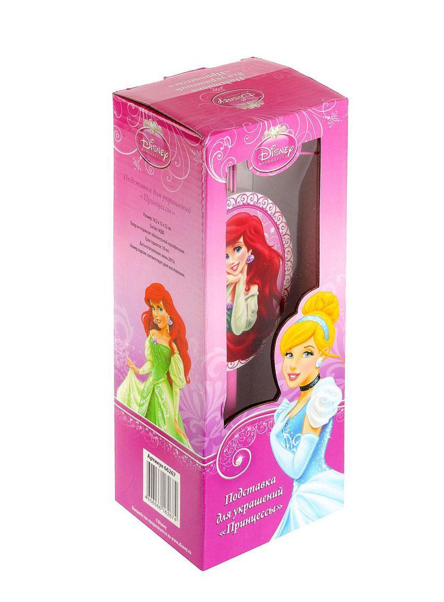 Подставка для украшений Disney Принцессы, цвет: розовый, 12 х 12 х 24 см, в ассортименте66267Подставка Disney Принцессы изготовлена из дерева. Подставка с удобными крючками из металла предназначена для хранения бус, колечек, резинок для волос. Подставка украшена изображением принцессы. Оригинальная подставка для украшений Disney Принцессы станет ярким украшения интерьера и чудесным подарком, который по достоинству оценит каждая девушка.
