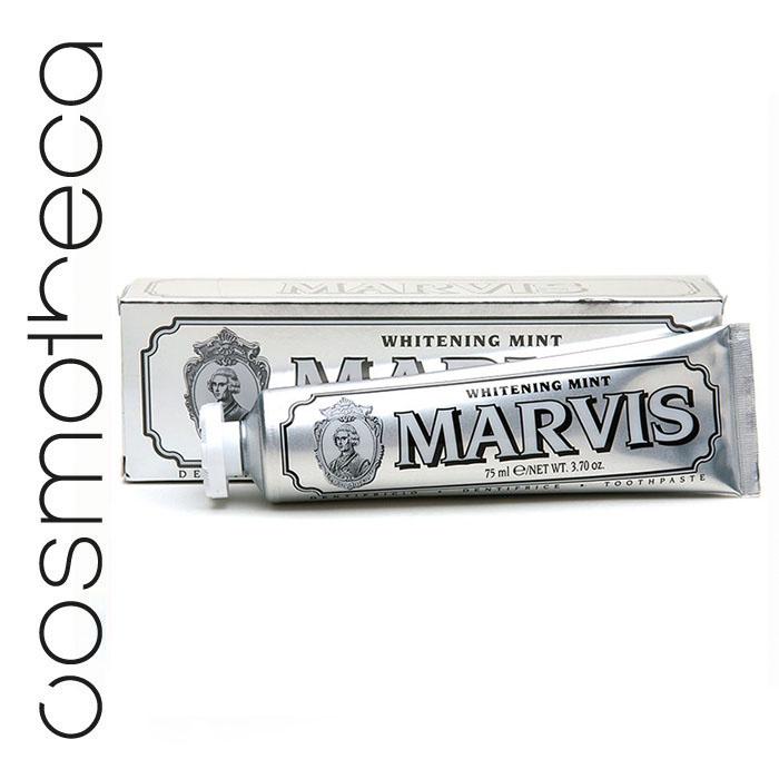 Marvis Зубная паста Мята 75 мл411081Зубная паста Мята освежает дыхание в течение всего дня, предотвращая разрушение зубов, удаляет камень и зубной налет, мягко полируя зубы, не повреждая эмаль.
