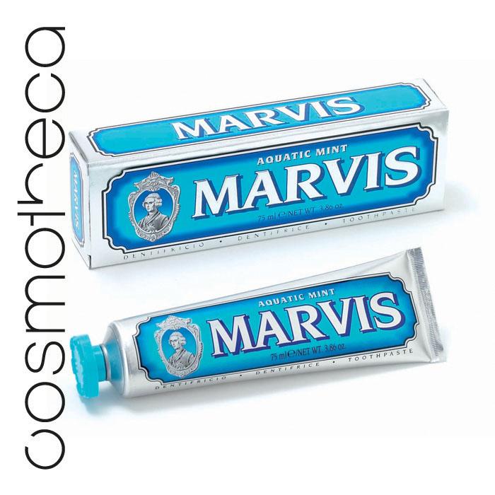 Marvis Зубная паста Cвежая Мята 75 мл411082Зубная паста Cвежая Мята с деликатным мятным вкусом освежает дыхание в течение всего дня, предотвращая разрушение зубов, удаляет камень и зубной налет, мягко полируя зубы, не повреждая эмаль.