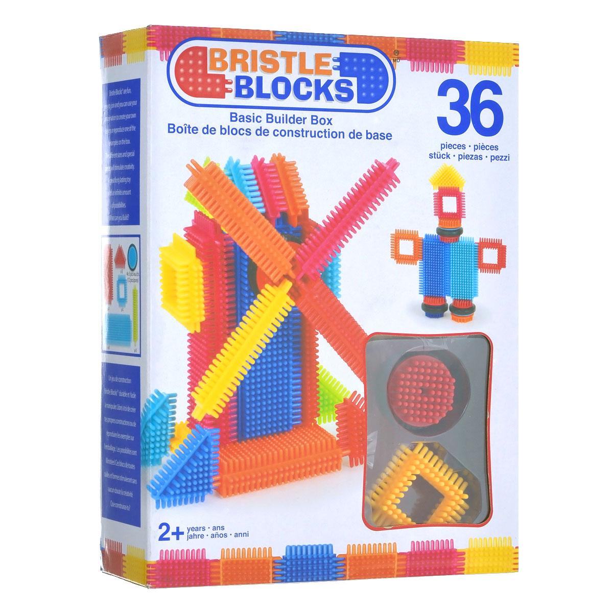 Battat Конструктор игольчатый Bristle Blocks68170Оригинальный игольчатый конструктор Battat Bristle Blocks - тактильный детский конструктор, который позволит вашему ребенку проявить свою фантазию. Элементы конструктора выполнены из яркого разноцветного пластика и оснащены игольчатыми сторонами, которые легко соединяются между собой практически в любой плоскости. Комплект включает 36 элементов, из которых можно собрать конструкции с подвижными элементами. Игольчатый конструктор Battat Bristle Blocks поможет ребенку развить мелкую моторику рук, логическое и пространственное мышление, творческие способности, а также поможет научиться соотносить форму и величину предметов.