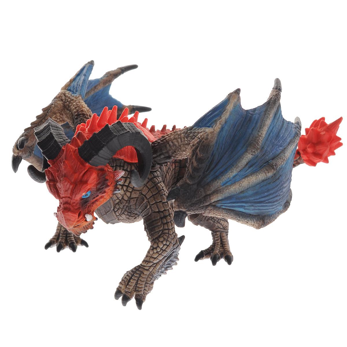 Schleich Фигурка Дракон Таран70511Великолепная фигурка Schleich Дракон Таран станет прекрасным подарком для вашего ребенка. Она высоко детализирована, и выполнена из каучукового пластика в виде дракона с огромными рогами. Фигурка дракона выполнена в красных и коричневых цветах. Крылья дракона двигаются за счет шарниров. У него острые когти и зубы, а на голове - массивные закрученные рога. Сильные лапы позволяют дракону легко перемещаться и отталкиваться от земли. Такая фигурка непременно понравится вашему ребенку, а также привлечет внимание взрослых коллекционеров, и станет замечательным украшением любой коллекции. Восхитительная фигурка сделает игры с рыцарями и воинами еще увлекательнее! Дракон Таран - самый сильный дракон. У него есть огромная голова с рогами, которая может снести всё на своем пути.