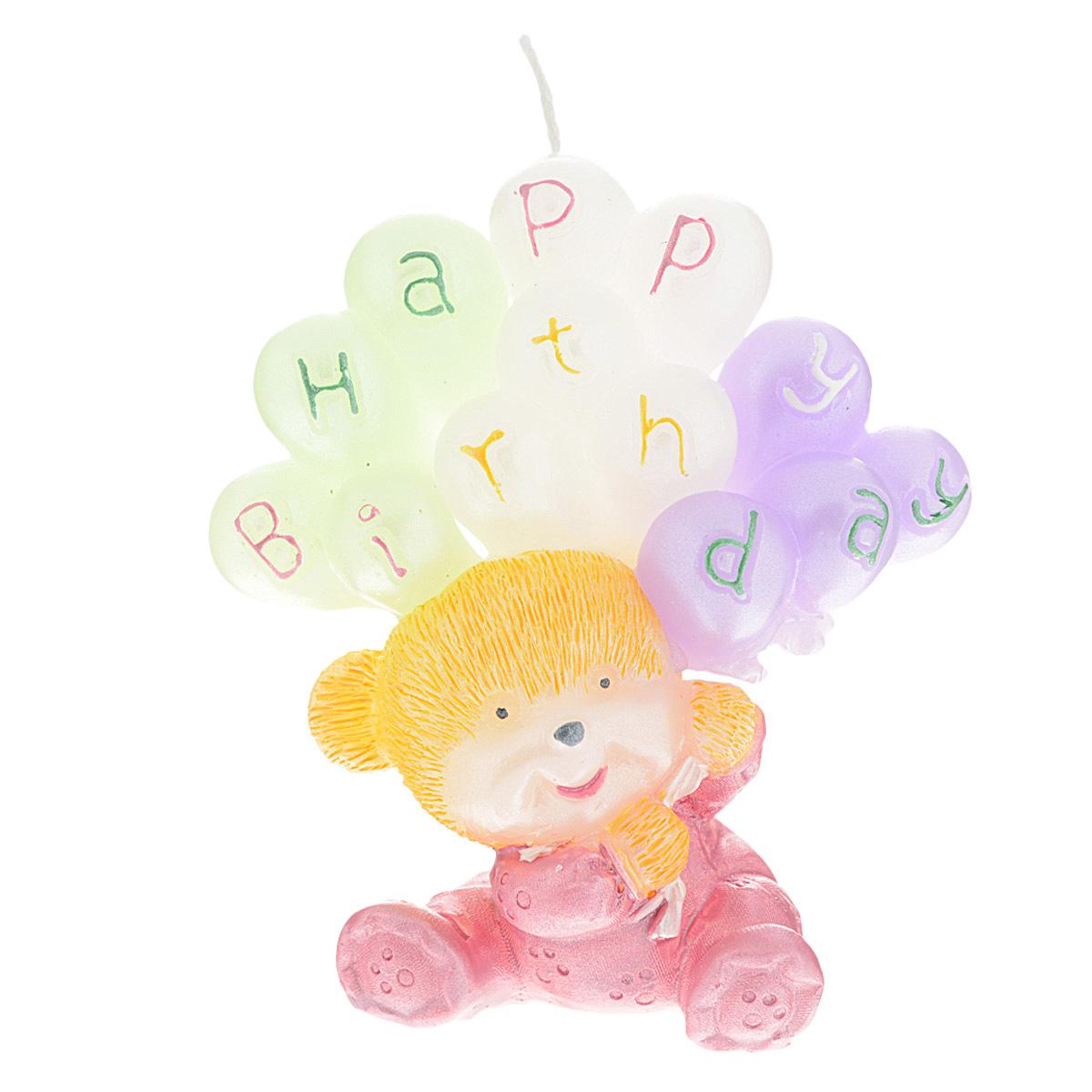 Свеча декоративная Win Max С днем рождения, цвет: розовый, 6 х 6 х 8 см94458Декоративная свеча Win Max С днем рождения изготовлена из парафина в форме мишки с шариками. Свеча упакована в прозрачную пластиковую коробку и украшена бантиком. Декоративная свеча Win Max С днем рождения может стать отличным подарком на день рождение. Размер свечи: 6 см х 6 см х 8 см.