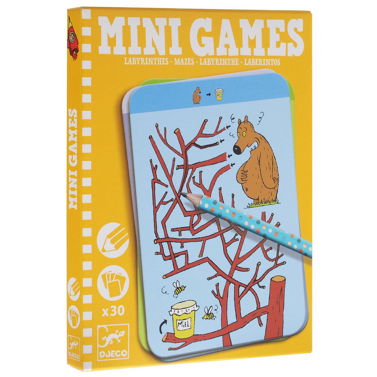 Djeco Мини-игра Лабиринты Тесея05325Мини-игра Лабиринты Тесея от французской компании Djeco - увлекательная карточная игра для детей в удобном компактном формате, которая прекрасно подходит для путешествий. Цель игры заключается в том, чтобы помочь животным достичь нужного места, проводя героя через запутанный лабиринт. Будьте осторожны - не попадите в тупик! На игровых карточках изображены сложные лабиринты и животные, которым необходима ваша помощь. В комплект игры входят 30 карточек и заточенный чернографитный карандаш с ластиком на конце. Малыш сможет прокладывать путь, рисуя его и стирая при необходимости. Фирма Djeco - это гарантия высокого качества, широкий выбор товаров для гармоничного развития ребенка, над дизайном и иллюстрациями работают опытные детские психологи и дизайнеры. Рекомендуемый возраст: от 6 до 10 лет.