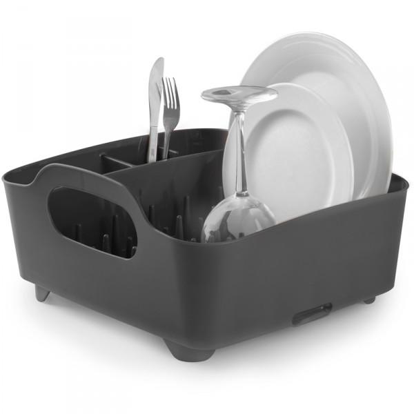 Сушилка для посуды Umbra Tub, цвет: серый, 34,5 х 37 х 18 см330590-582Сушилка для посуды Umbra Tub выполнена из полипропилена - высокопрочного нескользящего материала. Компактный дизайн изделия создает огромное пространство для хранения и сушки посуды. Несколько отсеков, которые позволяют уместить приборы, чашки, тарелки, и при этом они все будут на своем месте. В ней даже можно сушить бокалы и стаканы, благодаря специальным шипам, они не будут скользить. Сушилка ставится прямо в раковину. Благодаря ножкам, вода не будет застаиваться под сушилкой. Для удобства переноски изделие имеет удобные ручки. Размер сушилки: 34,5 см х 37 см х 18 см.