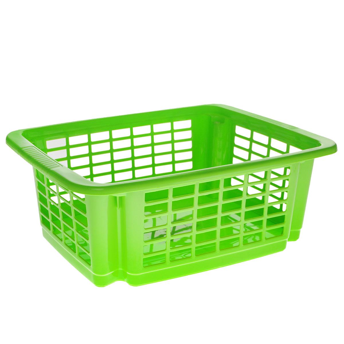 Корзина для хранения Dunya Plastik Стакер, цвет: салатовый, 12 л. 550705507Классическая корзина Dunya Plastik Стакер, изготовленная из пластика, предназначена для хранения мелочей в ванной, на кухне, даче или гараже. Позволяет хранить мелкие вещи, исключая возможность их потери. Это легкая корзина со сплошным дном и перфорированными стенками. Корзина имеет специальные выемки внизу и вверху, позволяющие устанавливать корзины друг на друга.