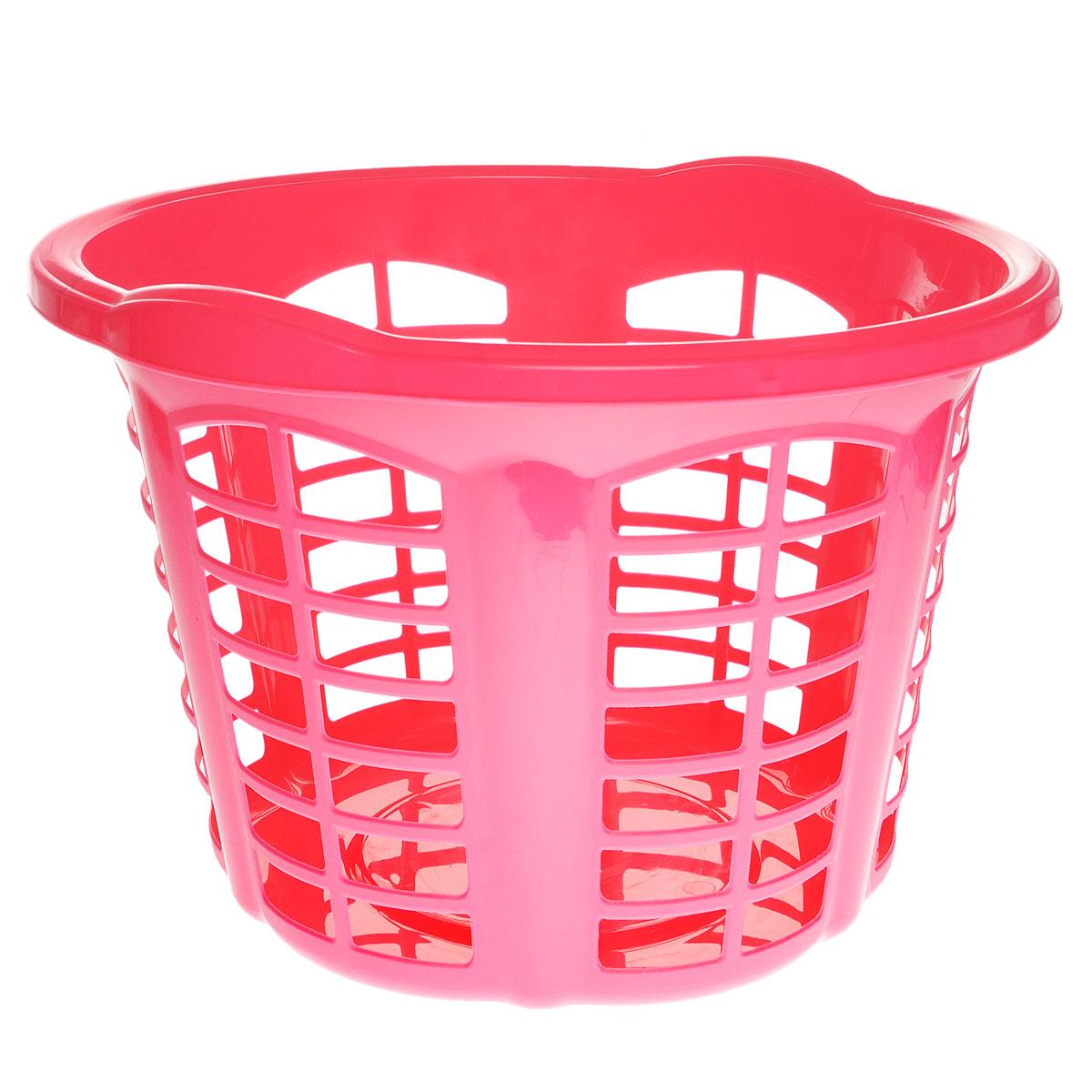 Корзина для белья Dunya Plastik Стиль, цвет: розовый, 33 л05301Корзина для белья Dunya Plastik Стиль изготовлена из прочного пластика. Корзина устойчива к перепадам температур и влажности, поэтому идеально подходит для ванной комнаты. Изделие оснащено двумя боковыми ручками. Можно использовать для хранения белья, детских игрушек, домашней обуви и прочих бытовых вещей. Элегантный дизайн подойдет к интерьеру любой ванной.