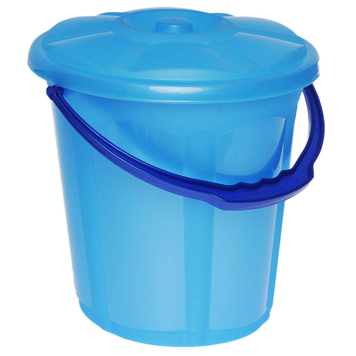 Ведро Dunya Plastik Стиль, с крышкой, цвет: голубой, синий, 7 л09102Ведро Dunya Plastik Стиль изготовлено из прочного пластика. Изделие оснащено плотно закрывающейся крышкой и удобной ручкой. Такое ведро прекрасно подойдет для различных хозяйственных нужд: для уборки или хранения мусора. Диаметр ведра (по верхнему краю): 24 см. Высота (без учета крышки): 24 см.