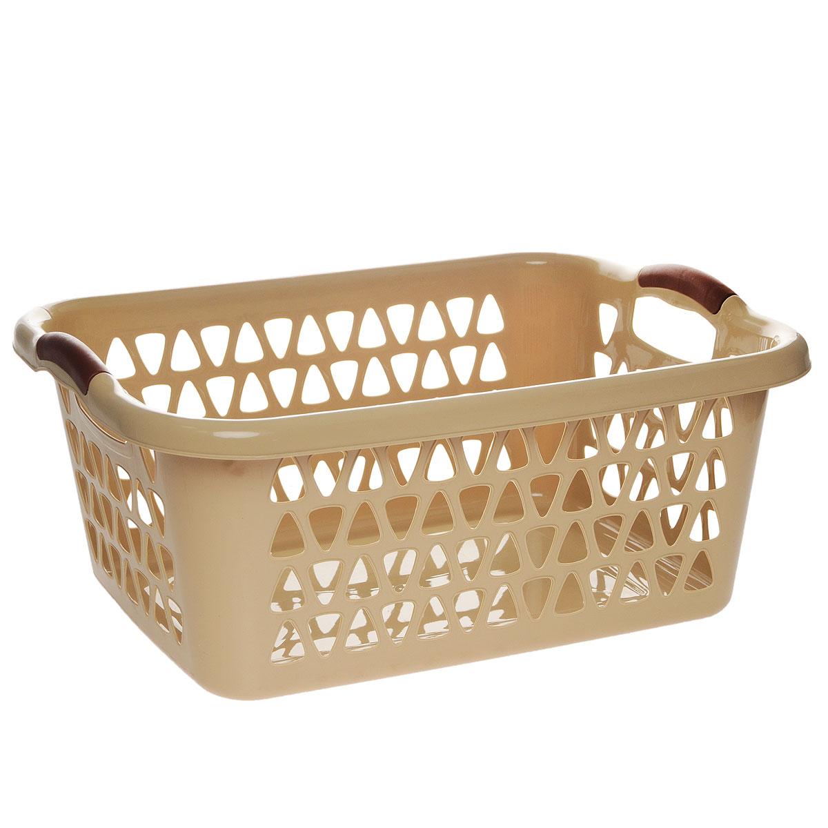 Корзина для хранения Dunya Plastik Симпатия, прямоугольная, цвет: бежевый, 51 х 35 х 20 см05101Классическая корзина Dunya Plastik Симпатия, изготовленная из пластика, предназначена для хранения мелочей в ванной, на кухне, даче или гараже. Позволяет хранить мелкие вещи, исключая возможность их потери. Это легкая корзина со сплошным дном, жесткой кромкой, с небольшими отверстиями. Изделие оснащено удобными ручками.