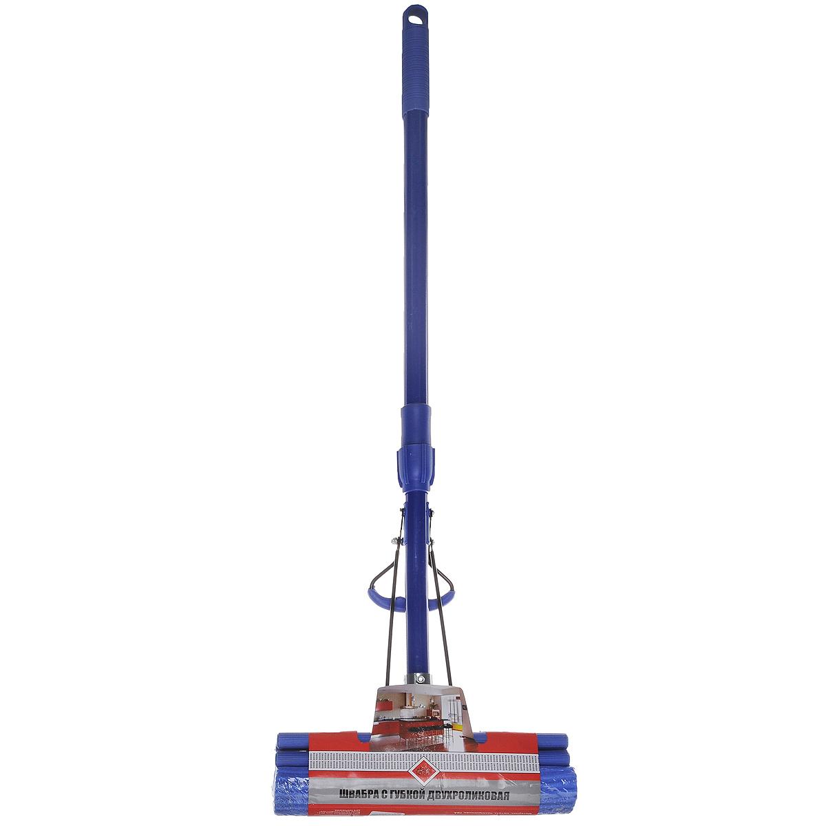 Швабра Home Queen А07 с отжимом, с телескопической ручкой, 75-107 см57247Швабра Home Queen, выполненная из металла, полипропилена и ПВА, подходит для всех видов напольных покрытий. Швабра имеет отжимной механизм с двумя роликами для большего эффекта и эргономичный изгиб телескопической ручки для комфорта при использовании. Отлично впитывает влагу и легко отжимается. Применяется для мытья пола, окон, стен, машин и т.п. Перед применением опустить губку в воду на 10 минут. После размягчения губки швабра готова к эксплуатации. Швабра Home Queen очистит любые виды загрязнений. Длина ручки: 75 см - 107 см. Размер губки: 27,5 см х 7,5 см х 5,5 см.