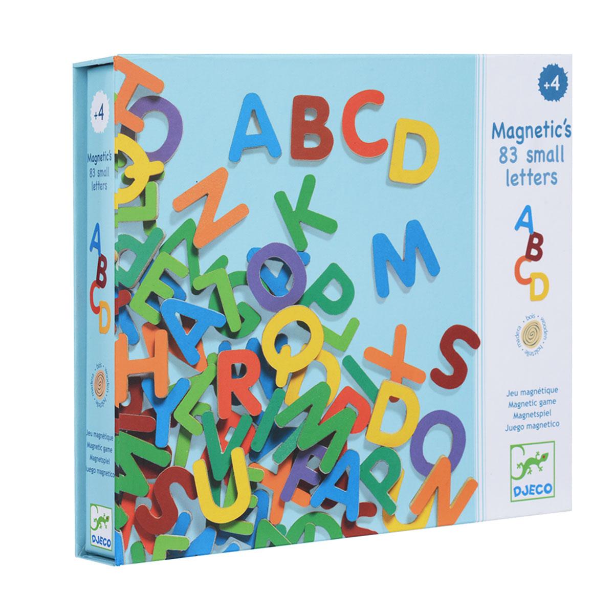 Djeco Набор магнитных латинских букв, 83 элемента