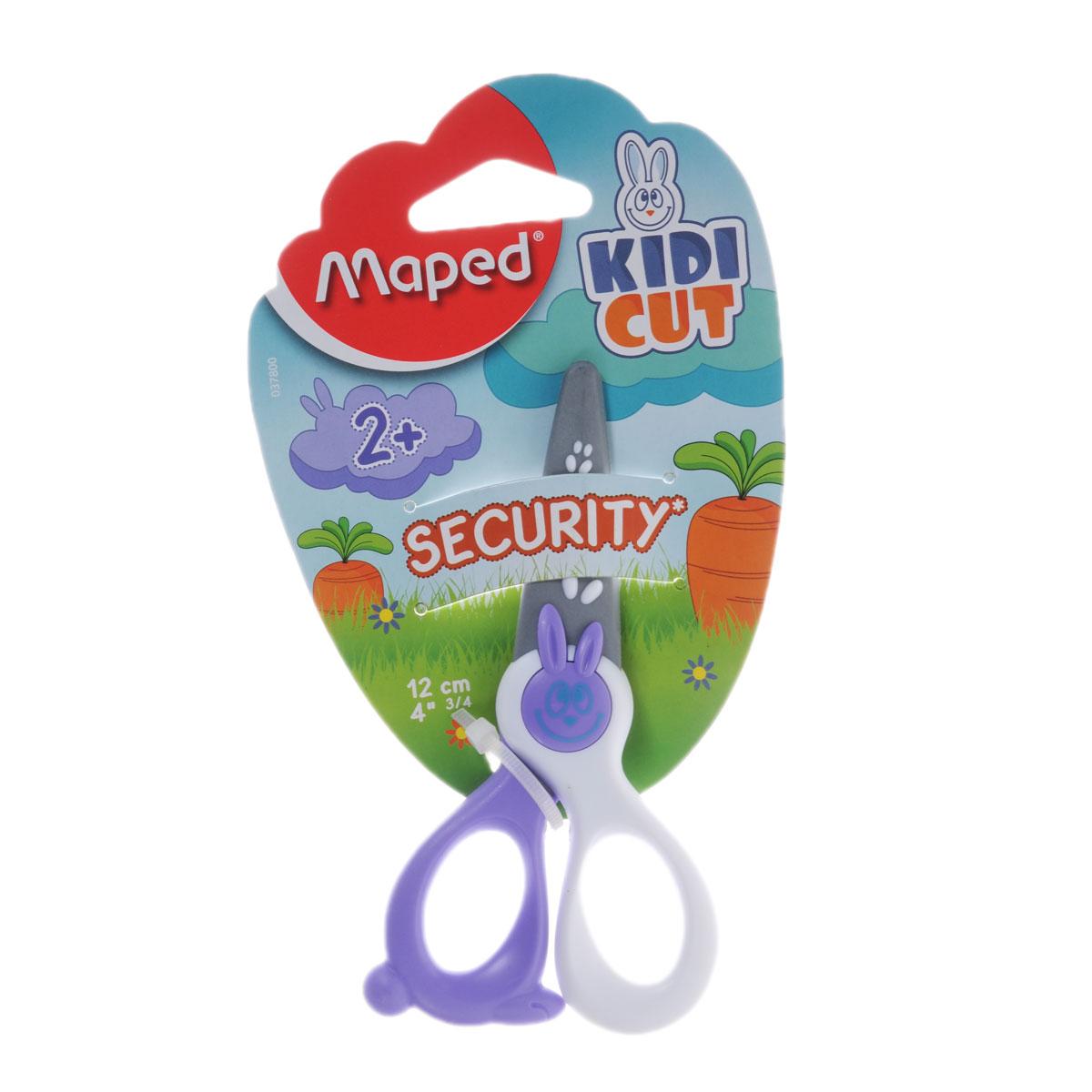 Ножницы детские Maped Security, цвет: сиреневый, белый, 12 см037800Детские ножницы Maped Security с закругленными концами имеют специальные лезвия из фибергласа, которые режут бумагу, но не повредят кожу ребенка, волосы или одежду. Идеальны для обучения обращению с ножницами вашего малыша. Рекомендуемый возраст: от 2 лет.
