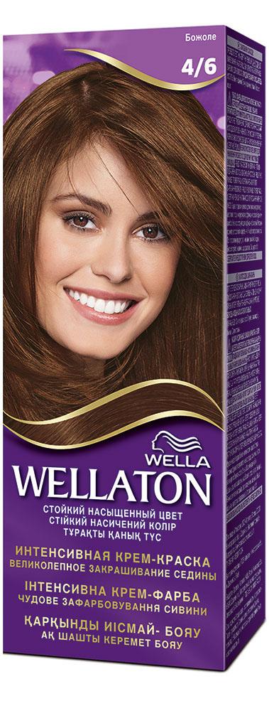 Крем-краска для волос Wellaton 4/6. БожолеWL-81138261Стойкая крем-краска Wellaton с сывороткой с провитамином В5 создана специально для вас экспертами Wella, чтобы подарить Вашим волосам насыщенный цвет, здоровый вид, потрясающий блеск и великолепное закрашивание седины. Это возможно благодаря окрашивающей технологии на кислородной основе и сыворотке с провитамином В5. Сыворотка с провитамином В5 обволакивает каждый волос и действует, словно защитный слой, свойственный натуральным неокрашенным волосам.