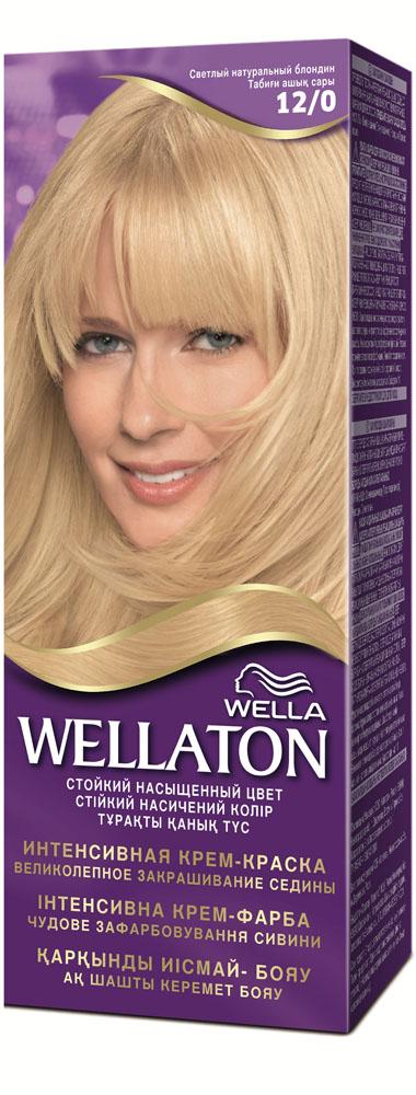 """Крем-краска для волос """"Wellaton"""" 12/0. Светлый натуральный блондин"""