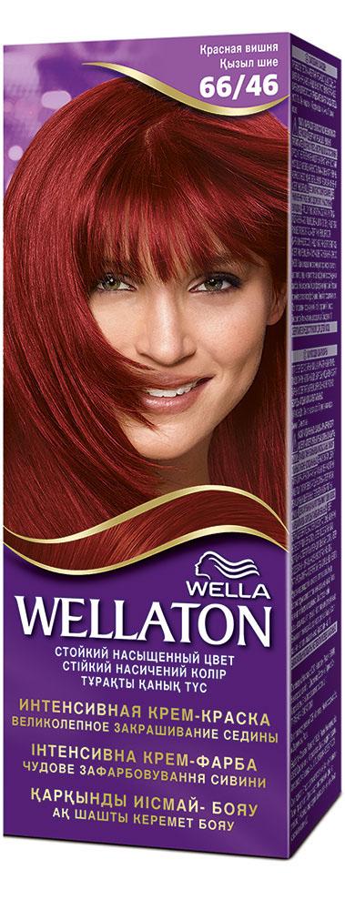 "Крем-краска для волос ""Wellaton"" 66/46. Красная вишня"