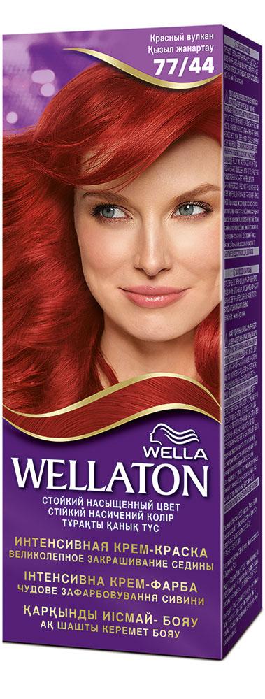 """Крем-краска для волос """"Wellaton"""" 77/44. Красный вулкан"""