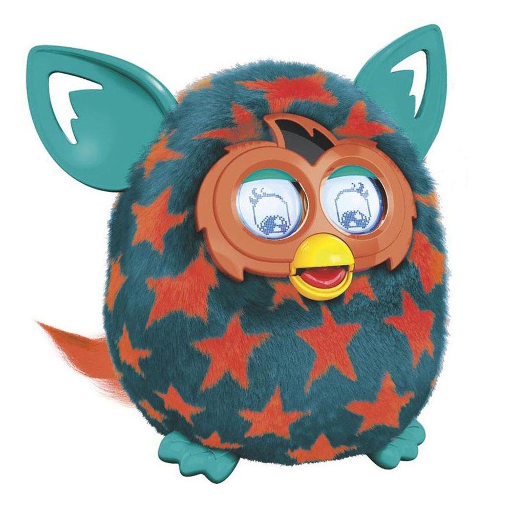 Furby (Фёрби) Boom Интерактивная игрушка Теплая волна (Рисунок оранжевые звезды)A6807_A4342_SolidFurby (Фёрби) - это уникальная интерактивная игрушка, которая станет отличным подарком и другом, как для детей, так и для взрослых. Интерактивный домашний питомец ответит взаимностью на дружеское общение. Разговаривает игрушка на языке Фёрби и русском языке. У Фёрби большие торчащие ушки, способные дергаться и вибрировать, а глаза представляют собой пару интерактивных ЖК-экранов с подсветкой и механическими веками. Это позволяет игрушке достаточно реалистично моргать, озираться и мимически реагировать на звуки. Разговаривайте с Фёрби, располагайте его лицом к себе, чем вы ближе к игрушке, тем легче Фёрби вас услышать. Чтобы он лучше на вас реагировал, выключите все фоновые шумы. Кормите Фёрби с помощью пальца, знакомте его с другими Фёрби, трясите, разговаривайте, качайте, включайте для него музыку, держите его, переворачивайте, гладьте и щекочите животик или тяните за хвост. Чтобы Фёрби заснул, потяните и удерживайте его хвост в течение 10...