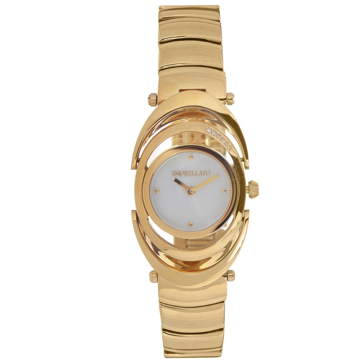 Часы женские наручные Morellato, цвет: золотой. R0153106501R0153106501Наручные женские часы Morellato оснащены кварцевым механизмом. Корпус выполнен из высококачественной нержавеющей стали с PVD-покрытием и декорирован кристаллами. Циферблат из натурального перламутра с отметками оформлен надписью Morellato и защищен минеральным стеклом. Часы имеют две стрелки - часовую и минутную. Браслет часов выполнен из нержавеющей стали с PVD-покрытием и оснащен застежкой-клипсой. Часы укомплектованы паспортом с подробной инструкцией в оригинальную подарочную коробку с названием бренда. Часы Morellato отличаются уникальным, но в то же время простым и лаконичным стилем. Характеристики: Диаметр циферблата: 1,9 см. Размер корпуса: 2,7 см х 4,8 см х 0,7 см. Длина браслета (с корпусом): 24,5 см. Ширина браслета: 1,5 см.