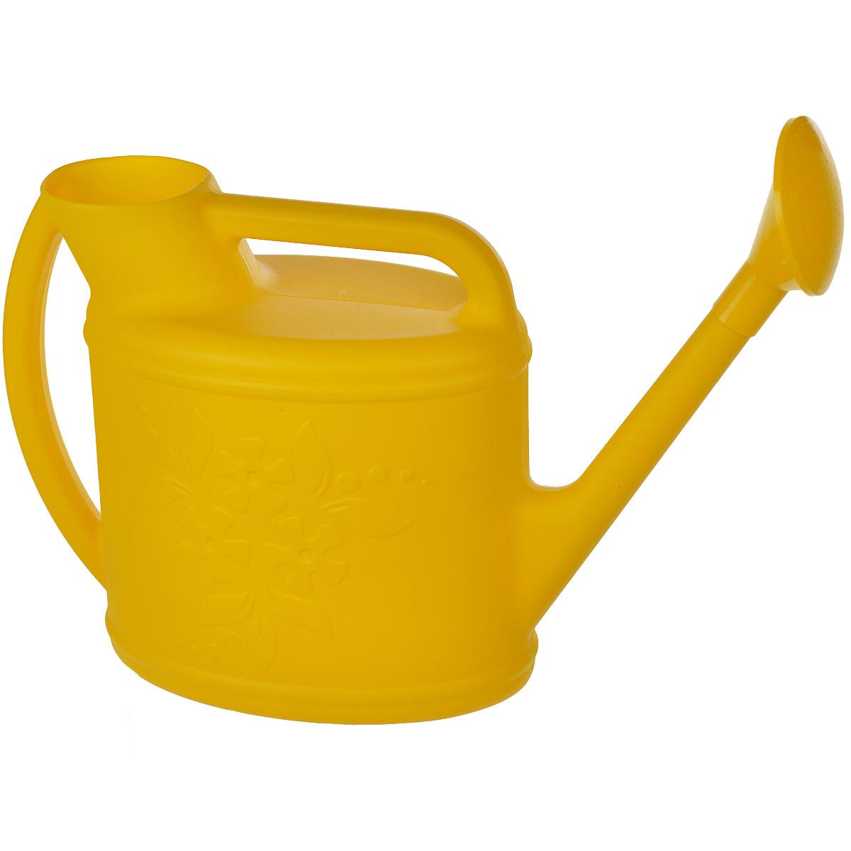 Лейка Альтернатива Премьера, с рассеивателем, цвет: желтый, 10 лM1628Садовая лейка Альтернатива Премьера предназначена для полива насаждений на приусадебном участке. Она выполнена из пластика и имеет небольшую массу, что позволяет экономить силы при поливе. Удобство в использовании также обеспечивается за счет эргономичной ручки лейки. Выпуклая насадка позволяет производить равномерный полив, не прибивая растения.