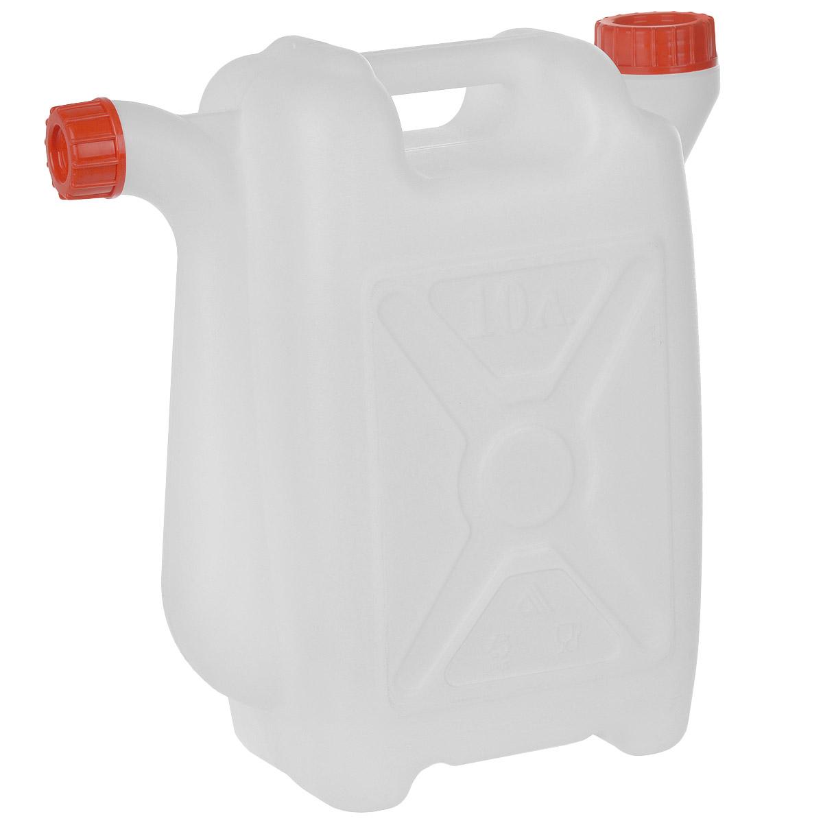 Канистра со сливом Альтернатива, 10 лМ049Канистра Альтернатива на 10 литров, изготовленная из прочного пластика, несомненно, пригодится вам во время путешествия. Предназначена для переноски и хранения различных жидкостей. Канистра оснащена сливом. Диаметр горла: 3,7 см.
