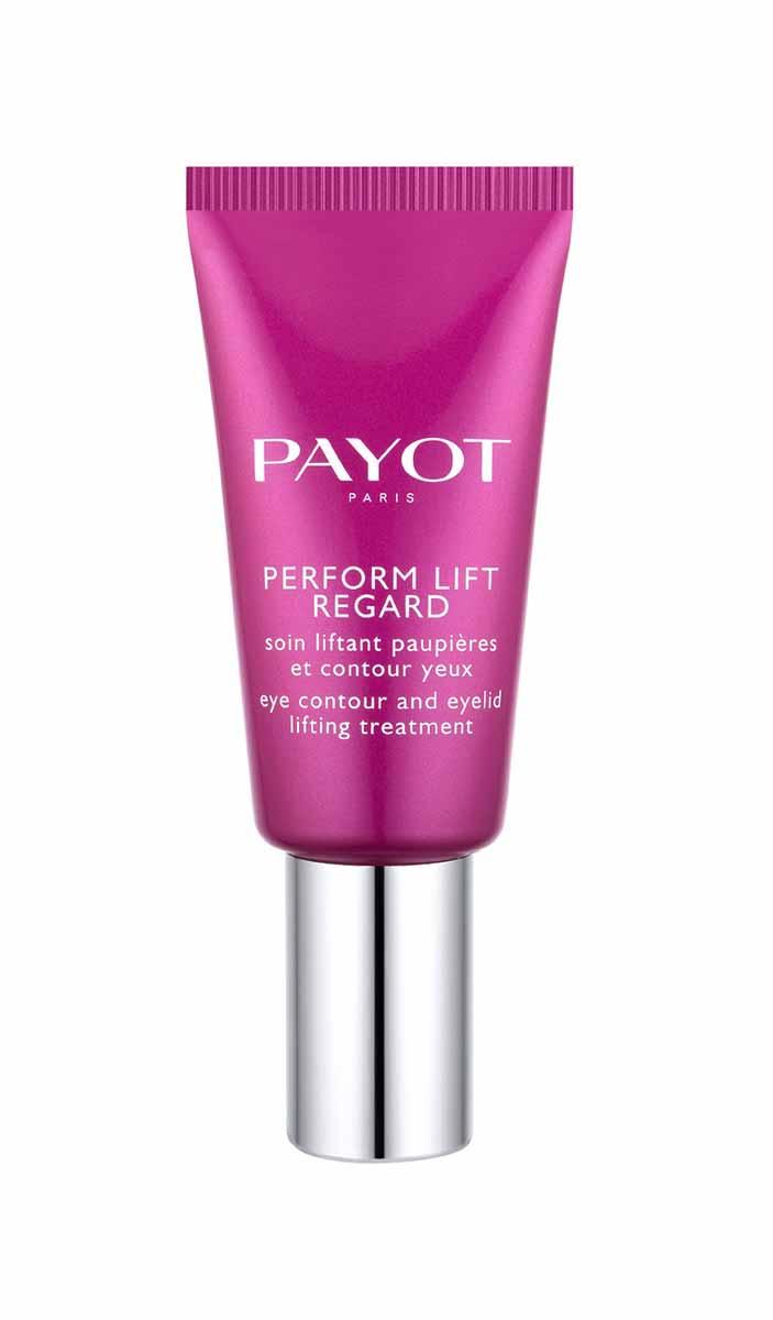 Payot Укрепляющее средство Perform Lift для области вокруг глаз 15 мл65092105укрепляет кожу верхнего века, разглаживает «гусиные лапки», борется с темными кругами и припухлостями под глазами
