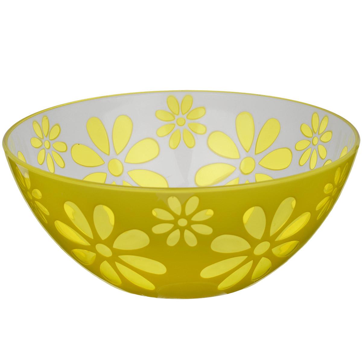 Чаша Альтернатива Соблазн, цвет: желтый, 1,7 лM2321Чаша Альтернатива Соблазн изготовлена из высококачественного пластика и подходит для повседневного использования. Чаша отлично подойдет для овсяных хлопьев, фруктов, риса или некоторых видов десерта. Также в ней можно приготовить салаты. Приятный дизайн подойдет практически для любого случая.
