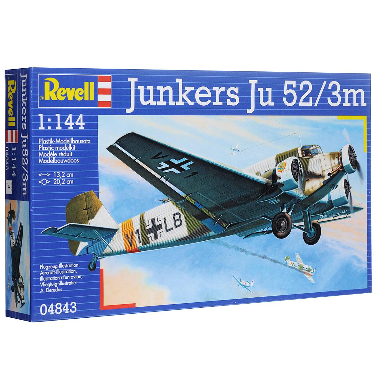 """Сборная модель Revell """"Немецкий транспортный самолет Junkers Ju 52"""""""