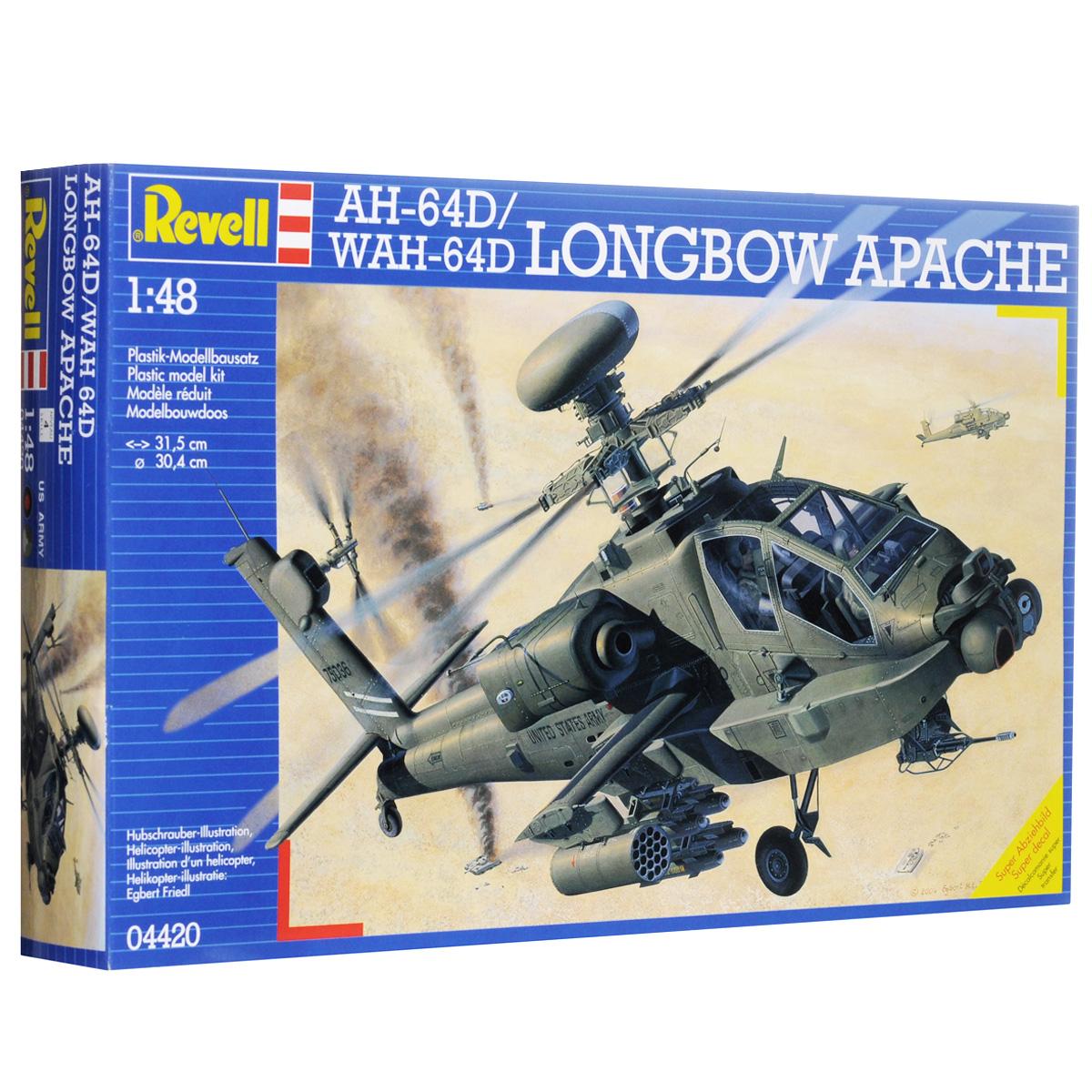 Сборная модель Revell Вертолет Apache AH-64D4420С помощью набора Revell Вертолет Apache AH-64D вы и ваш ребенок сможете собрать уменьшенную копию настоящего американского ударного вертолета. Вертолет Apache AH-64D был разработан в 1975 году для замены своего предшественника AH-1 Кобра. C 1984 года AH-64D стал основным вертолетом армии США. Вооружение машины состоит из 30-мм пушки, 14 противотанковых ракет и 4 установок с неуправляемыми ракетами. В экипаж входят два человека. Набор содержит все необходимое: 184 элемента для сборки, схематичную инструкцию и лист с наклейками. Благодаря набору ваш ребенок разовьет интеллектуальные и инструментальные способности, воображение, конструктивное мышление, внимание, терпение и кругозор. Уровень сложности: 4. УВАЖАЕМЫЕ КЛИЕНТЫ! Обращаем ваше внимание на тот факт, что модель не раскрашена, краски и кисть в комплект не входят.