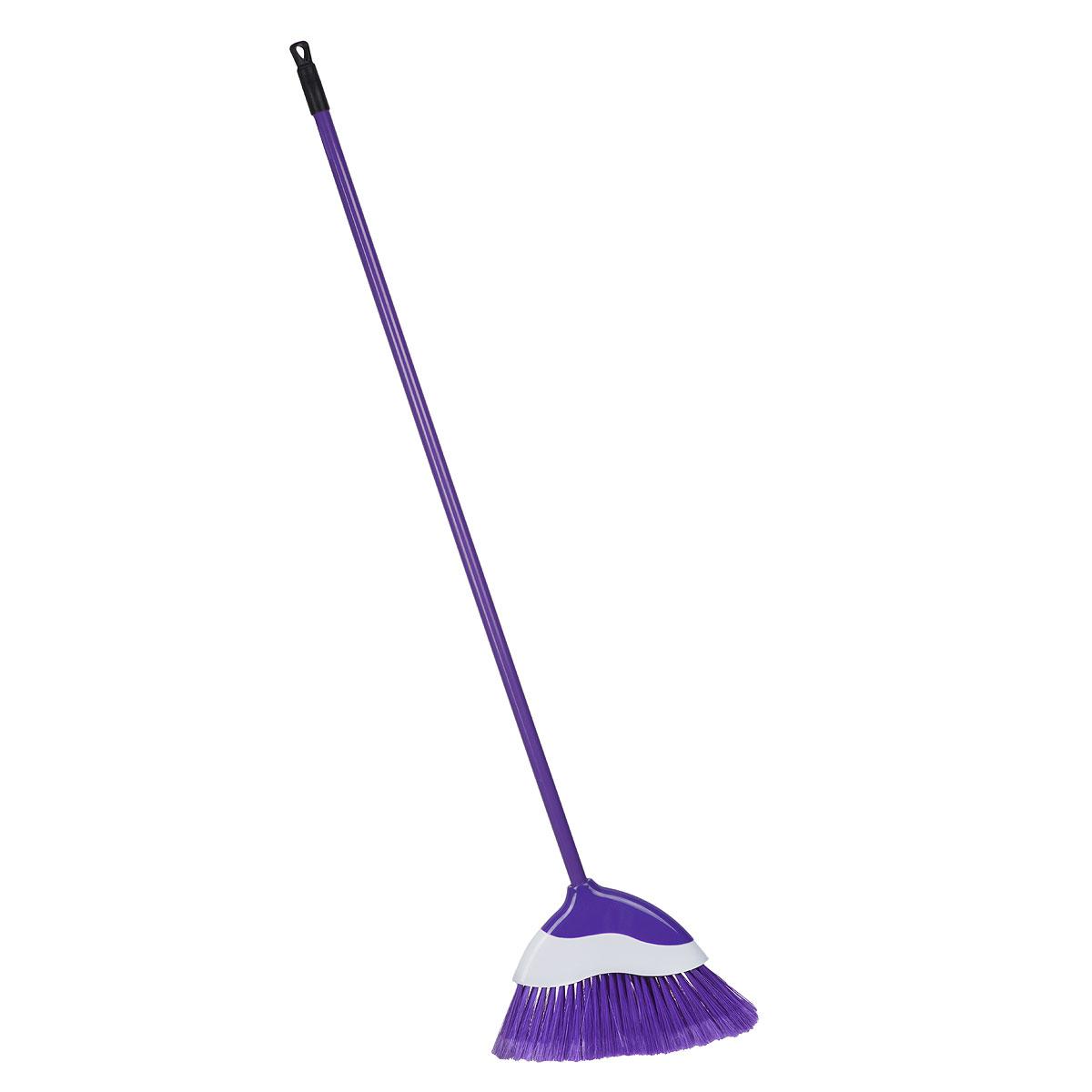 Еврошвабра Home Queen с фигурной насадкой, со съемной ручкой, цвет: фиолетовый57258Еврошвабра Home Queen, выполненная из металла и полипропилена, идеально подходит для подметания всех типов напольных поверхностей благодаря длинной пластичной щетине. Изделие имеет фигурную съемную насадку с волнистыми краями. С шваброй Home Queen ваш дом будет сиять чистотой! Длина ручки: 108 см. Размер насадки: 34 см х 4 см х 22,5 см. Длина ворса: 10 см.