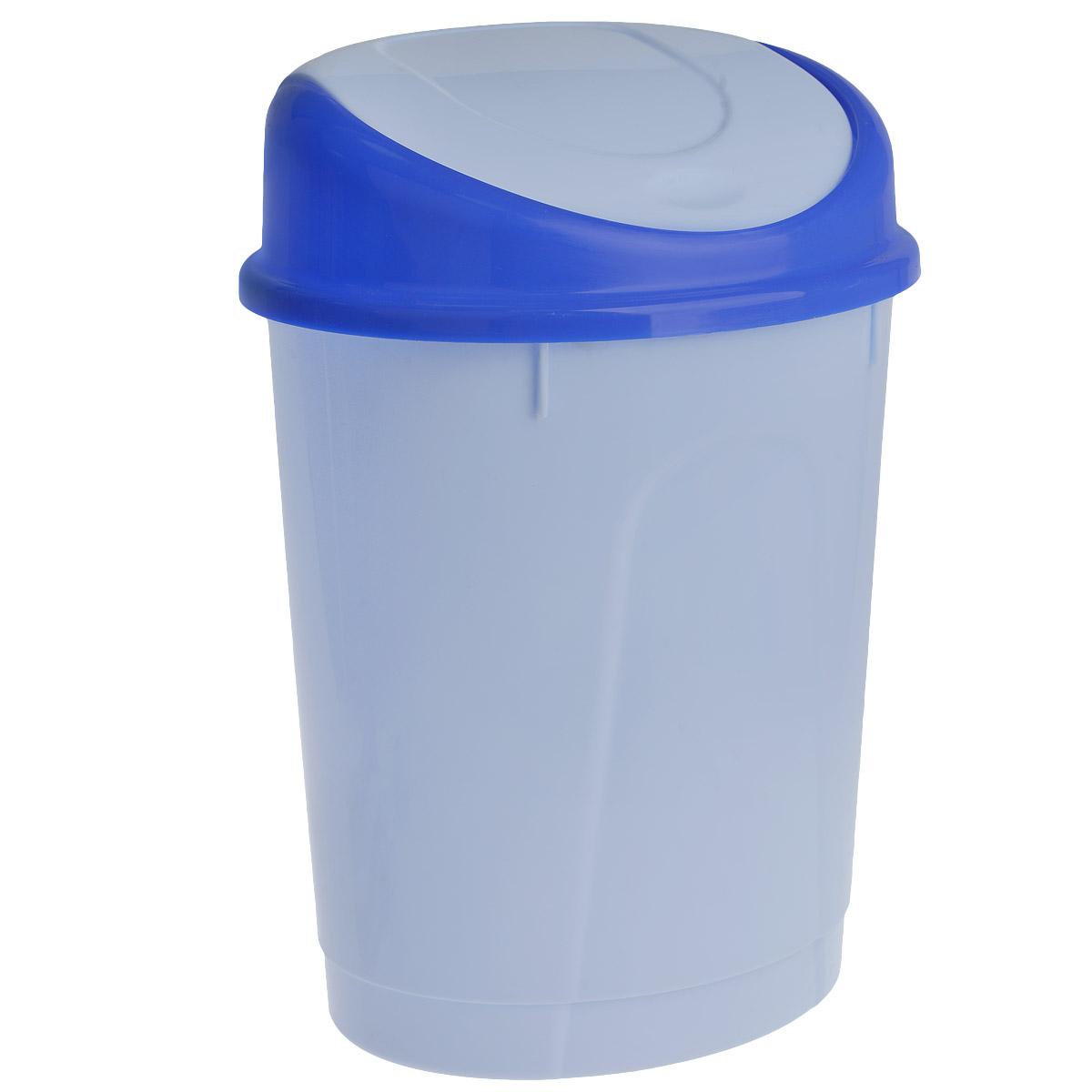 Контейнер для мусора Альтернатива, цвет: голубой, 8 л, 25 см х 20 см х 35 смМ1377/М1005Контейнер для мусора овальной формы Альтернатива выполнен из пластика. Такой аксессуар очень удобен в использовании, как дома, так и в офисе. Оснащен крышкой.